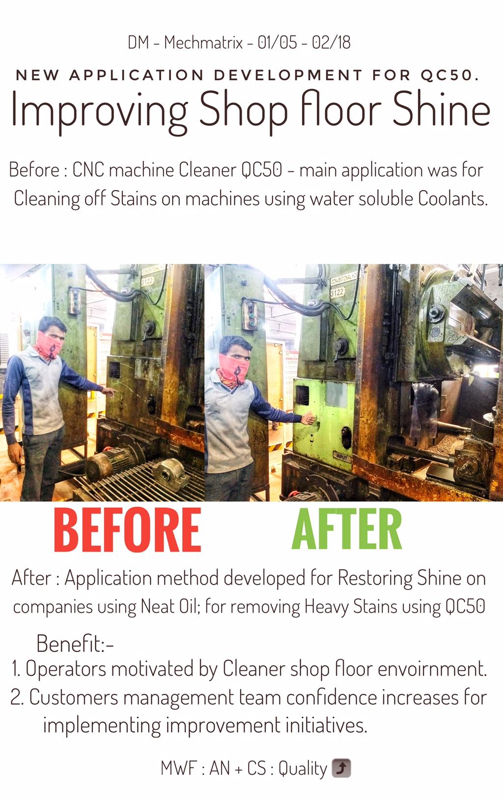 qc50 cnc machine cleaner quickclean mechmatrix